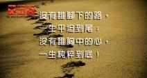 沒有誰腳下的路,一生平坦到尾;沒有誰胸中的心,一生純粹到底!